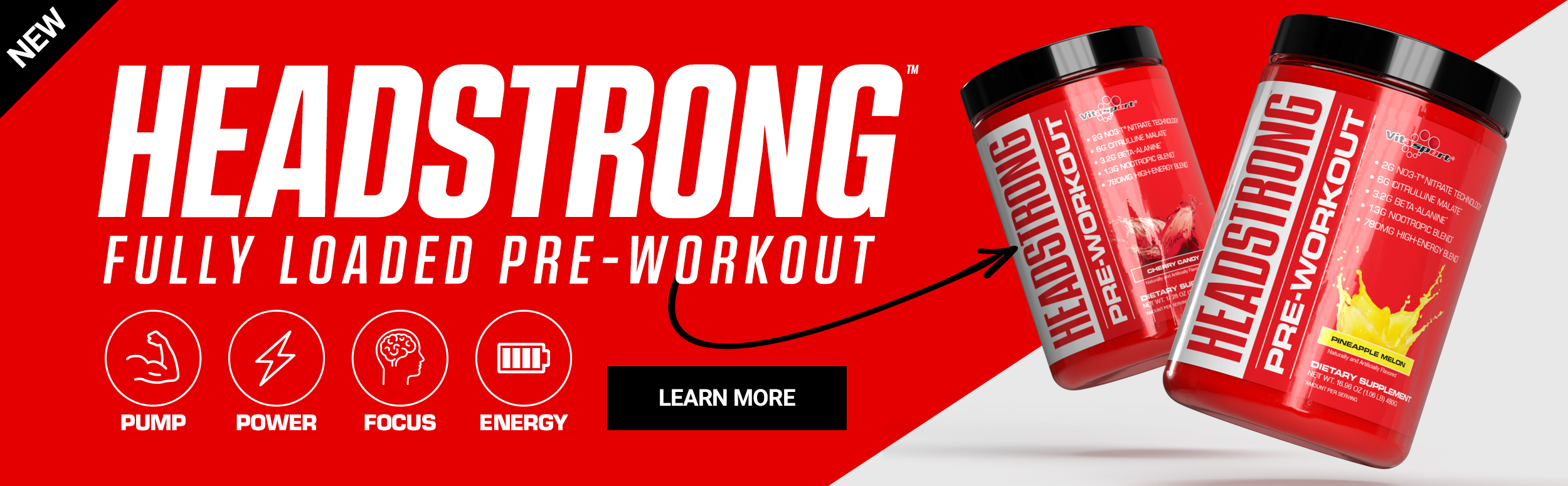 Vitasport Headstrong - Fully Loaded Pre-workout - Click to learn more